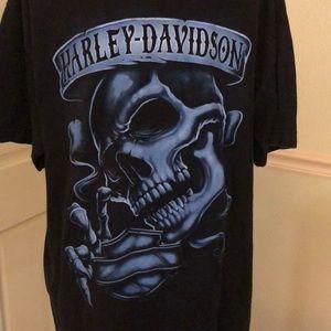 Harley-Davidson Large Men's Blue skull
